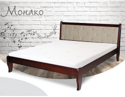 Кровать Монако 90х200 бук, цвет натуральное дерево - интернет-магазин tricolor.com.ua