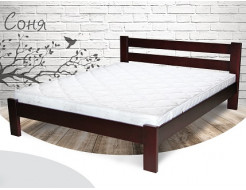 Кровать Соня 90х190 бук, цвет натуральное дерево - интернет-магазин tricolor.com.ua