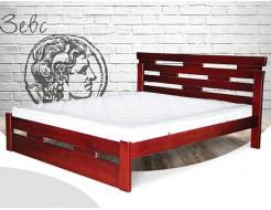 Кровать Зевс 90х200 бук, цвет натуральное дерево - интернет-магазин tricolor.com.ua