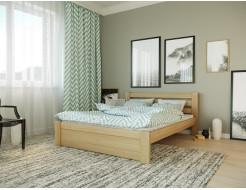 Кровать Жасмин 90х190 бук, цвет натуральное дерево - интернет-магазин tricolor.com.ua