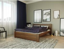 Кровать Жасмин 90х200 бук, цвет натуральное дерево - интернет-магазин tricolor.com.ua