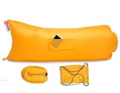 Купить Надувной шезлонг-лежак.top premium желтый - 1
