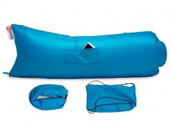 Купить Надувной шезлонг-лежак.top premium голубой - 1