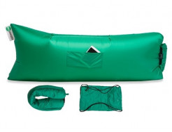 Купить Надувной шезлонг-лежак.top premium зеленый - 1