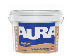 Краска фасадная структурная с силиконом Aura Dekor Silikon Struktur