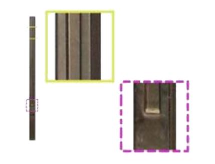 Форма столба №1 Гладкий 4 секции стеклопластик MF 280