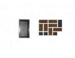 Форма для тротуарной плитки «Кирпич шагрень» 20x10x4,5 Александра