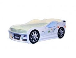 Кровать машина Jaguar для девочек 80х170 ДСП с подъемным механизмом