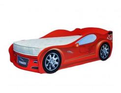 Кровать машина Jaguar красная 70х150 ДСП с подъемным механизмом