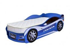 Кровать машина Jaguar полиция синяя 70х150 ДСП с подъемным механизмом