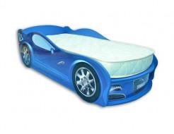 Кровать машина Jaguar синяя 70х150 ДСП с подъемным механизмом