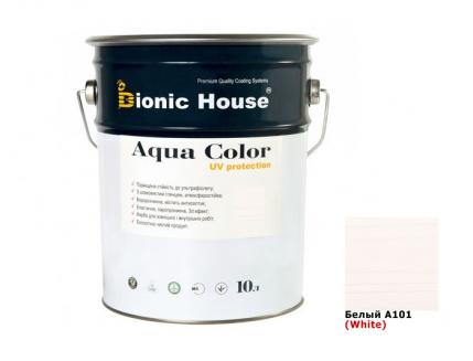 Акриловая лазурь AQUA COLOR – UV protect Bionic House (белая) - интернет-магазин tricolor.com.ua