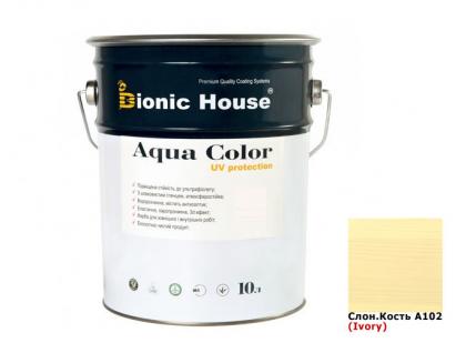 Акриловая лазурь Aqua color – UV protect Bionic House (слоновая кость) - интернет-магазин tricolor.com.ua
