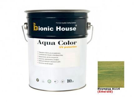 Акриловая лазурь Aqua color – UV protect Bionic House (изумруд) - интернет-магазин tricolor.com.ua