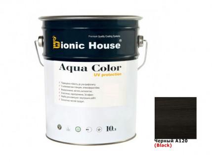 Акриловая лазурь AQUA COLOR – UV protect Bionic House (черная) - интернет-магазин tricolor.com.ua
