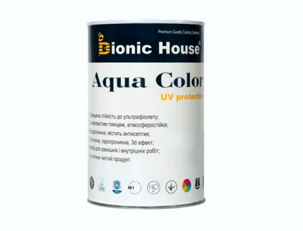 Акриловая лазурь AQUA COLOR – UV protect Bionic House (черная) - изображение 3 - интернет-магазин tricolor.com.ua