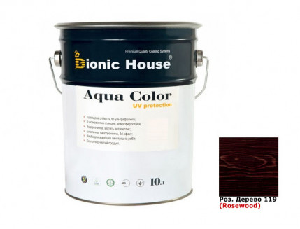 Акриловая лазурь Aqua color – UV protect Bionic House (розовое дерево) - интернет-магазин tricolor.com.ua
