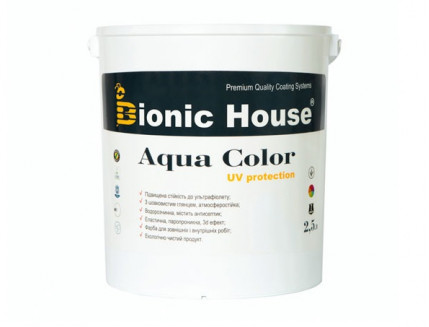 Акриловая лазурь AQUA COLOR – UV protect Bionic House (шоколад) - изображение 5 - интернет-магазин tricolor.com.ua