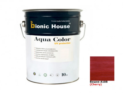 Акриловая лазурь Aqua color – UV protect Bionic House (вишня) - интернет-магазин tricolor.com.ua