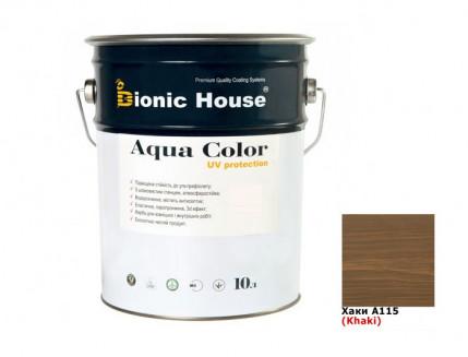 Акриловая лазурь Aqua color – UV protect Bionic House (хаки) - интернет-магазин tricolor.com.ua