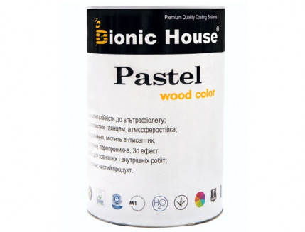 Акриловая пропитка-антисептик Pastel Wood color Bionic House (цитрус) - интернет-магазин tricolor.com.ua