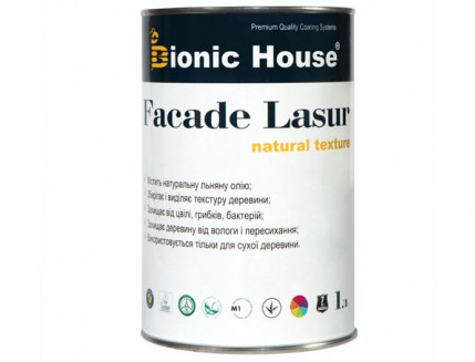 Лазурь с маслом для фасадов FACADE LASUR Bionic House (белый) - интернет-магазин tricolor.com.ua