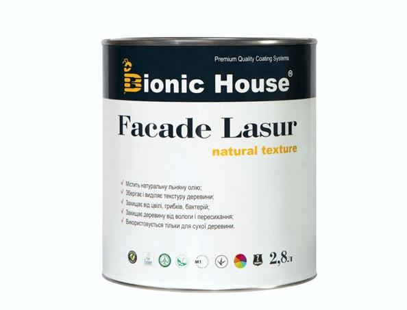 Лазурь с маслом для фасадов FACADE LASUR Bionic House (белый) - изображение 2 - интернет-магазин tricolor.com.ua