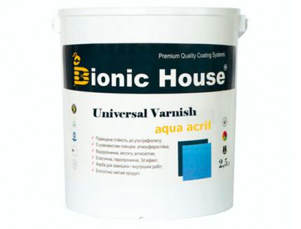 Лак универсальный акриловый Bionic House полуматовый прозрачный - интернет-магазин tricolor.com.ua