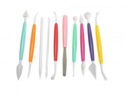 Набор инструментов для лепки (глина, мастика, керамика) 10 шт