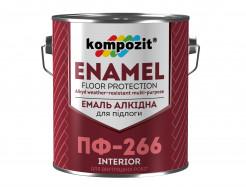 Эмаль для пола ПФ-266 Kompozit красно-коричневая