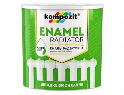 Эмаль акриловая радиаторная Kompozit белая матовая