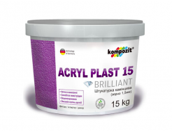 Купить Штукатурка камешковая Akryl Plast 15 Kompozit барашек прозрачная