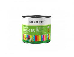 Эмаль ПФ-115 Kolorit черная - интернет-магазин tricolor.com.ua