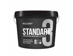 Краска для сухих помещений Kolorit Standart 3 белая
