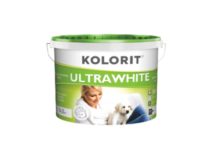 Краска интерьерная ультрабелая Kolorit Ultrawhite eco