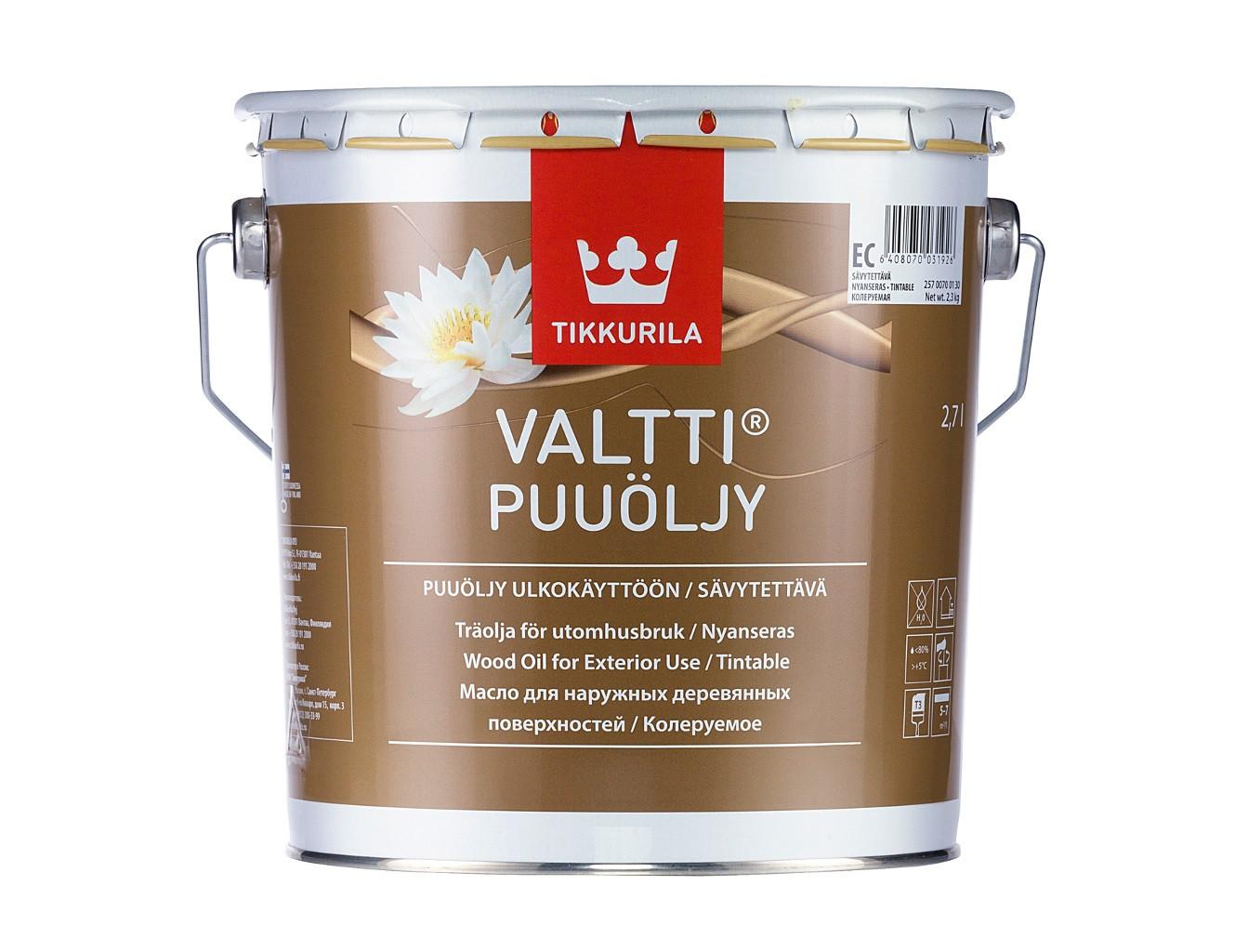 Масло для дерева Валтти Tikkurila VALTTI PUUOLJY - изображение 2 - интернет-магазин tricolor.com.ua