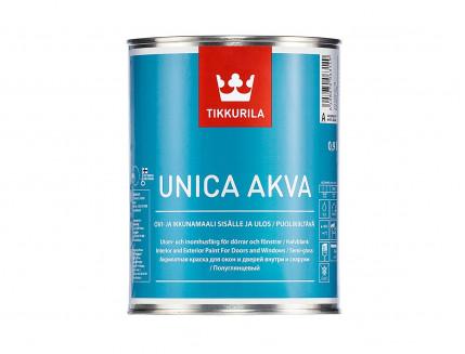 Краска акрилатная Уника Аква Tikkurila UNICA AKVA прозрачная