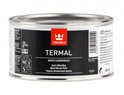 Купить Краска термостойкая силиконовая черная Термал Tikkurila Termal musta silikonimaali