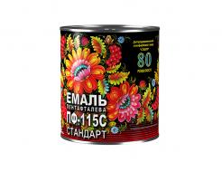 Эмаль алкидная ПФ-115С Стандарт Спектр красная - интернет-магазин tricolor.com.ua