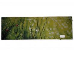 Кухонный фартук из стекла фотопечать с вырезом под 2 розетки