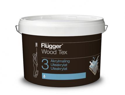 Акриловая латексная краска Flugger Wood Tex Acrylic Paint (Base 3) полупрозрачная