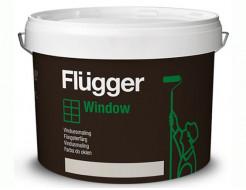 Краска алкидно-акриловая для окон и дверей Flugger Wood Tex Window Paint (Base 4) прозрачная