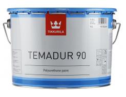 Купить Краска акрилоуретановая 2К Темадур 90 Tikkurila Temadur 90 алюминиевая (мелкий металлик) THL-209