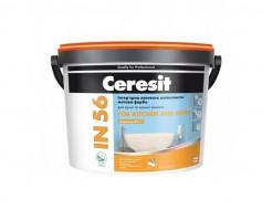 Краска интерьерная латексная Ceresit IN 56 шелковисто-матовая для ванной и кухни