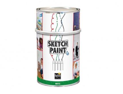 Краска интерьерная маркерная MagPaint Sketchpaint белая глянцевая - интернет-магазин tricolor.com.ua