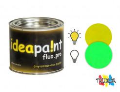 Краска интерьерная флуоресцентная Ideapaint fluo.pro желтая