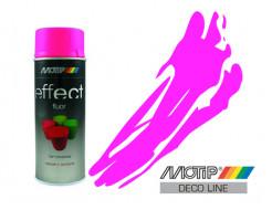Эмаль аэрозольная флуоресцентная Motip Deco Effect розовая 400 мл