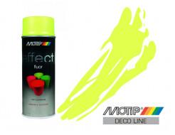 Эмаль аэрозольная флуоресцентная Motip Deco Effect желтая 400 мл