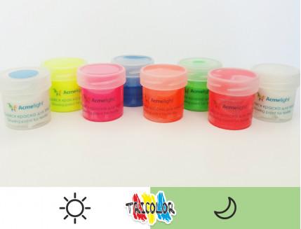 Краска светящаяся AcmeLight для текстиля белая 20мл - изображение 2 - интернет-магазин tricolor.com.ua