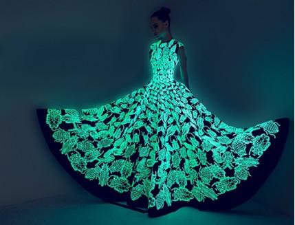 Краска светящаяся AcmeLight для текстиля классик голубая 20мл - интернет-магазин tricolor.com.ua